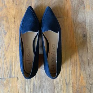 Sole Society Black Pointed-Toe Heels